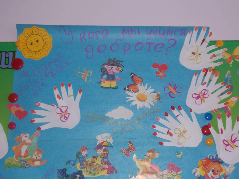 Плакат с ладошками детей фото